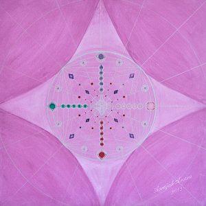 Lichtchristall-Mandala